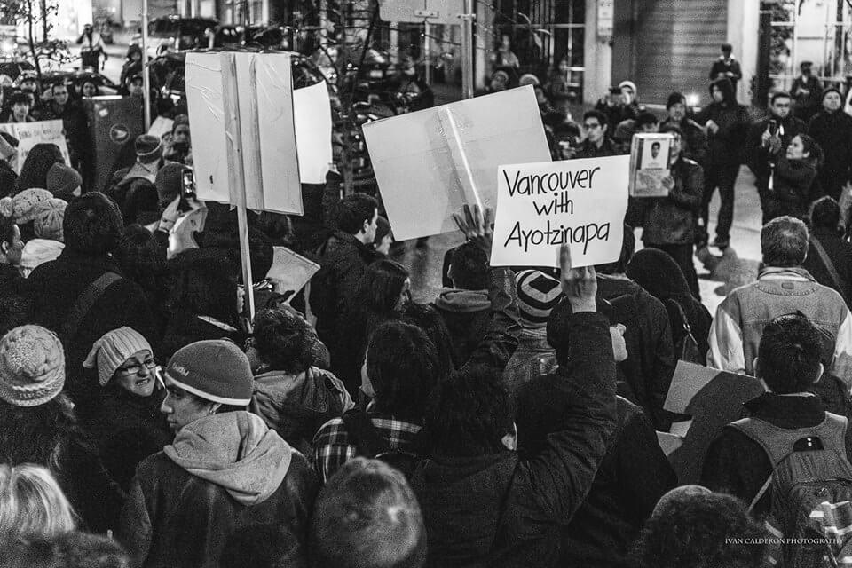 Ayotzinapa protest in Vancouver. Photo Credit: Ivan Calderon
