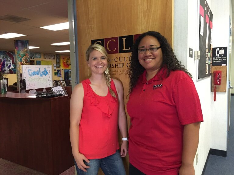 Katie Peterson and Krystle Tonga, CCLC staffers