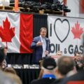 Leader of the Conservatives, Andrew Scheer, speaking at a rally in Moosomin, Saskatchewan. Photography by Photos Andre Forget.