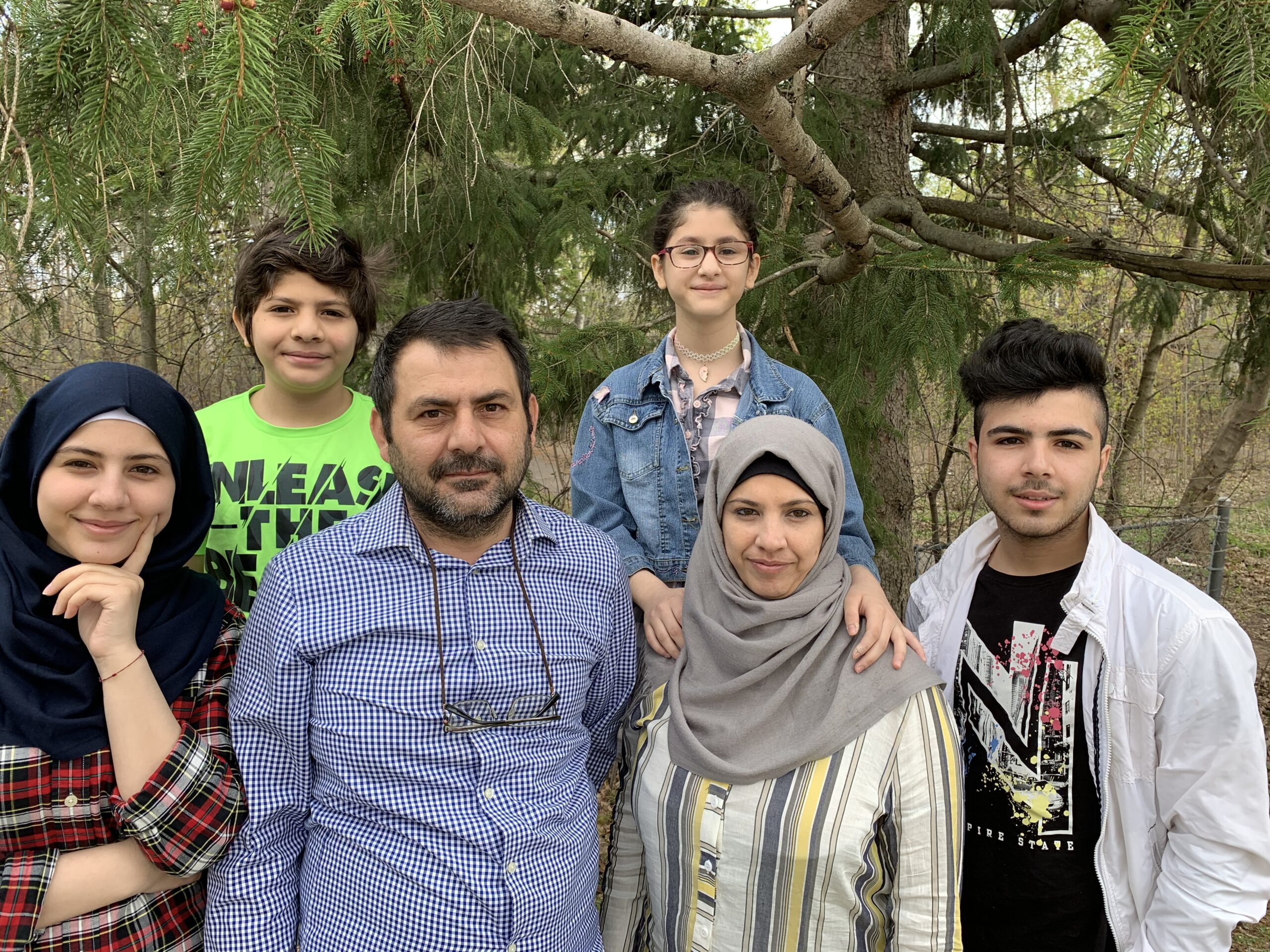 family of the Aya Abou Rshd, refugee student whose education was effected by covid-19