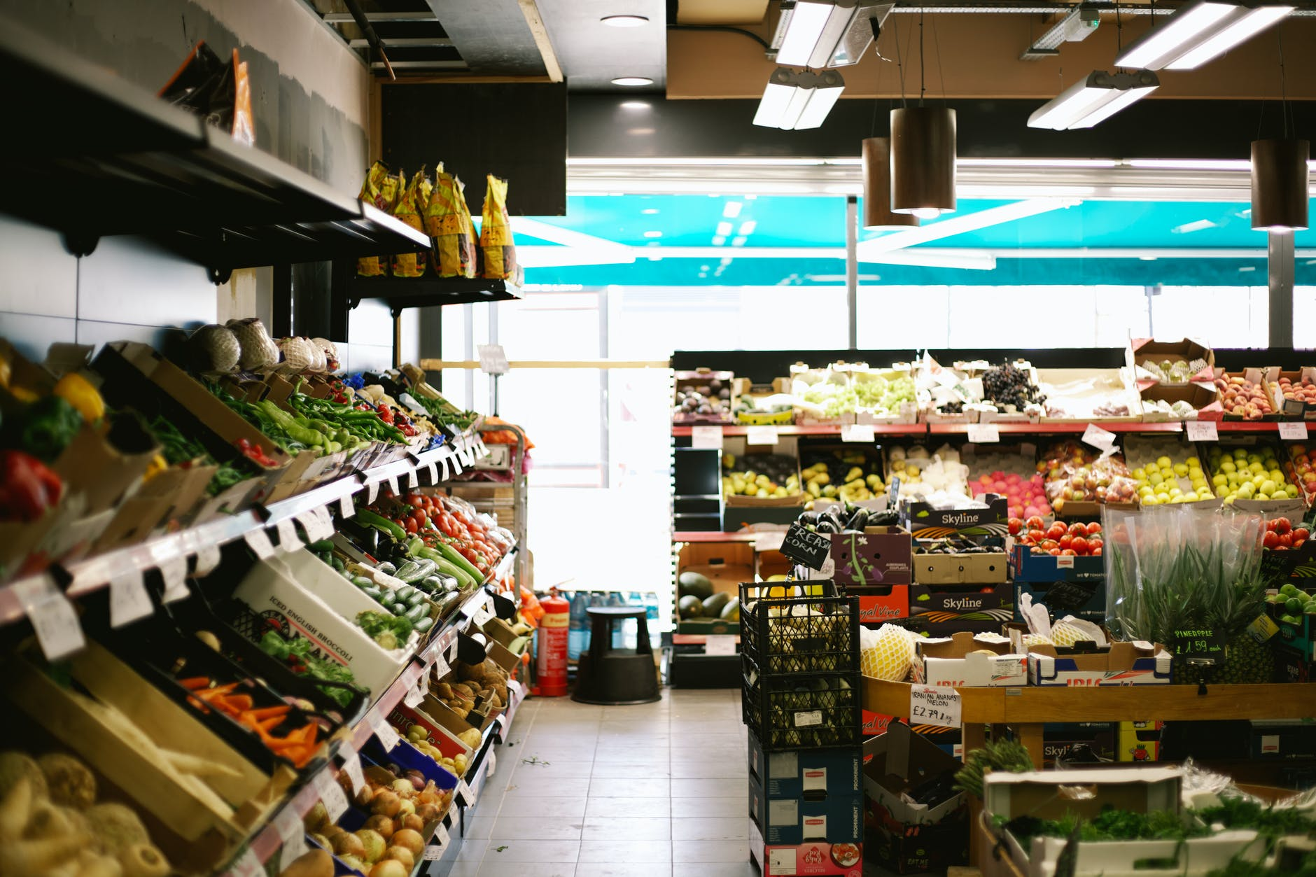 grocery store, farmer, fruits, food,