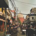 A street scene in Delhi, a city featured prominently in the Darmiyaan podcast.