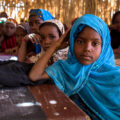 Nigerian girls go to school.