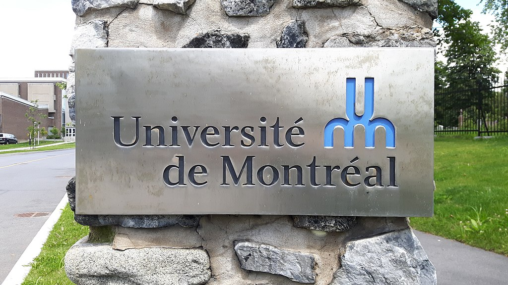 Photo of the Université de Montréal logo. Students from developing countries face a lot of challenges in Quebec.
