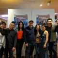 """Photo of """"Kim's Convenience"""" cast with Mike Yuan and Ruby Yuan."""