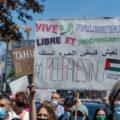 Des manifestants à Montréal le 15 mai 2021