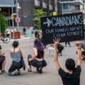 Protests in the wake of the police murder of George Floyd in Minneapolis have not been limited to the United States. This protest outside the U.S. consulate in Toronto had a message for Canadians.