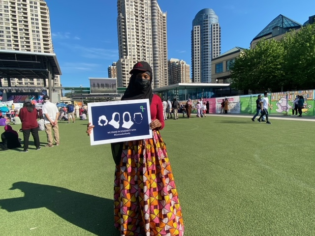 Demonstrators are hoping to change stigmas about people's cultures.